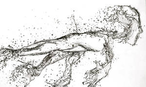 Running Water (Pencil) by Paul-Shanghai