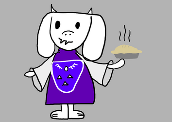 Toriel and a pie by tinypancakes123