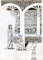 Riana and Auron - Ink by lennan