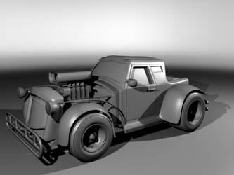 3D hot rod by CapraruConstantin