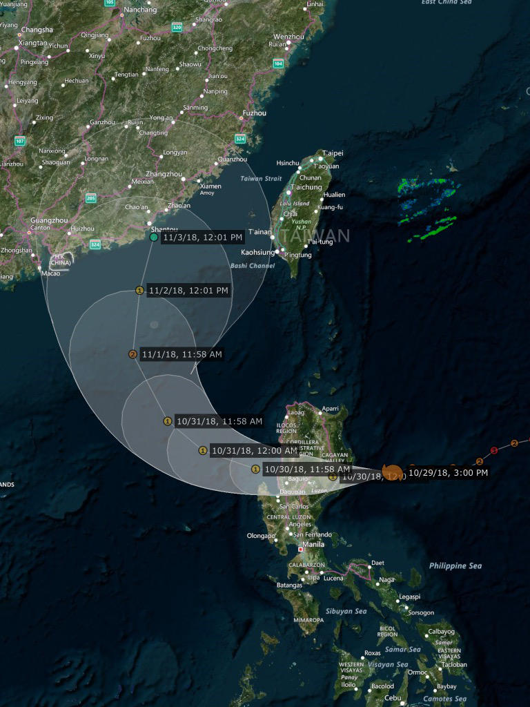 Yutu making landfall soon in the Philippines. by Nicholas75