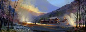 Temple on fire... by HughEbdy