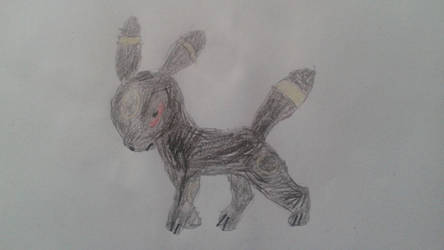 An umbreon that I drew by WOLF97777777