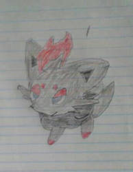 Zorua  (throwback drawing) by WOLF97777777