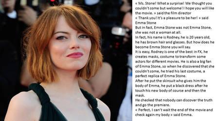 Emma Stone Skinsuit by napo08