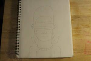 Character drawing #25 Buraindo Komori (no color) + by TwilightDestinyArt