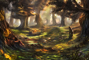 Piano In A Forest (Revised) by PieterSneep