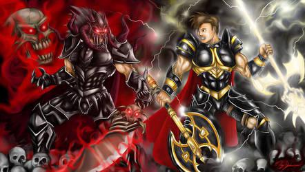 Sepulchure VS Artix -Black by Xzeromus