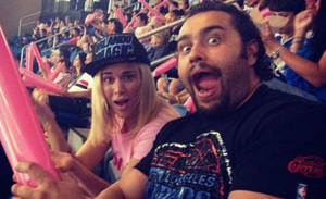 Rusev and Lana at a Orlando Magic game by MothraLeo