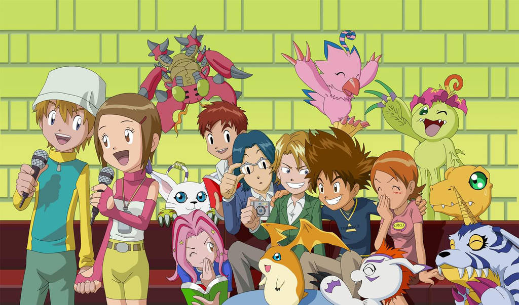 The Chosen Children and their Digimon by MothraLeo