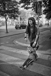 Father Son Skateboard by sandas04