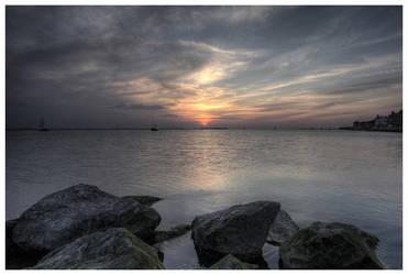 Sunset + Boats III by wrob