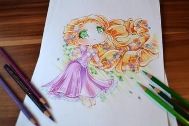 Chibi Rapunzel by Lighane