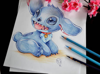 Stitch waits for Lilo by Lighane