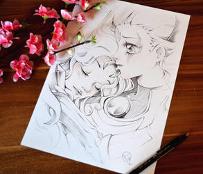 Facebook Sketch Giveaway by Lighane