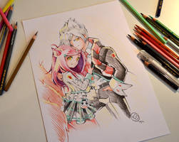 Ahri and Vlad in love by Lighane