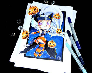 Pumpkin Kitty Syndra by Lighane