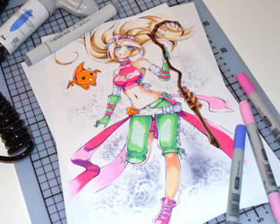 Dragon Trainer Janna - colored by Lighane