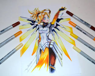 Mercy from Overwatch by Lighane