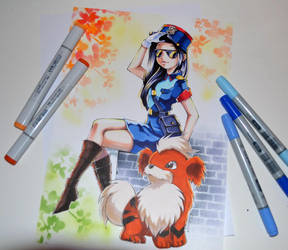 Officer Caitlyn cosplaying Officer Jenny by Lighane