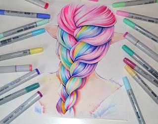 Rainbow Braid by Lighane