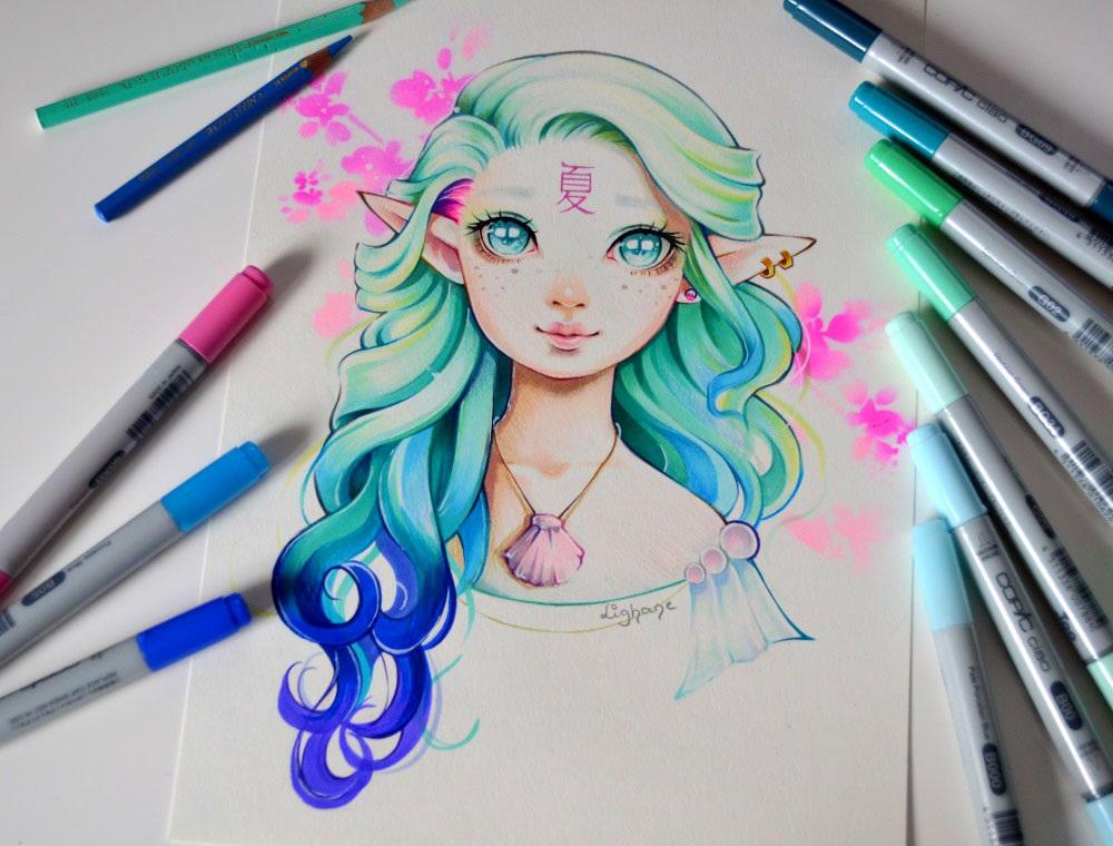 Natsu - the Goddess of Summer by Lighane