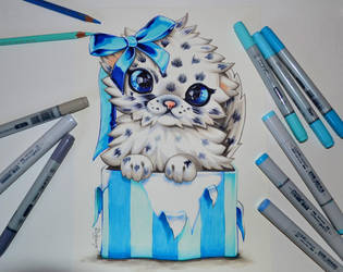 Baby Snow Leopard by Lighane