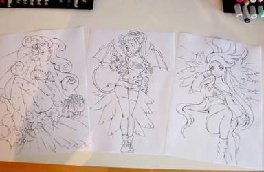 Three lovely girls - Kickstarter Update by Lighane