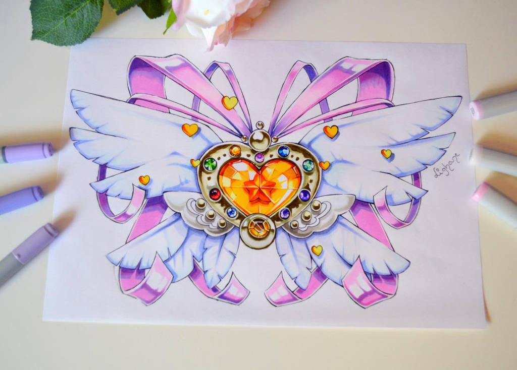 sailor moon eternal brooch tattoo lighane deviantart designs crystal copic coloring tattoos senshi marker floral moons artblog bit tiny heroine