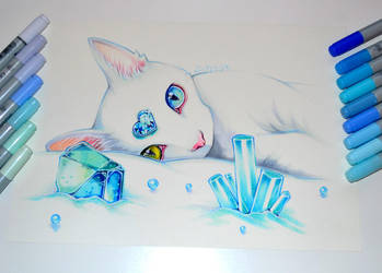 December Birthstone - Blue Topaz by Lighane