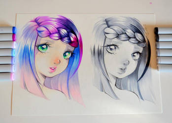 Color Vs. Monochromatic by Lighane