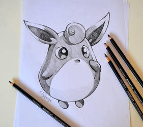 Wigglytuff Doodle by Lighane