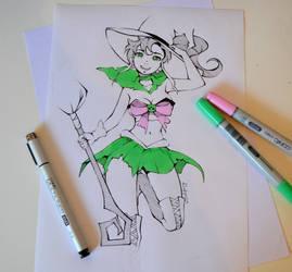 Inktober Witch by Lighane
