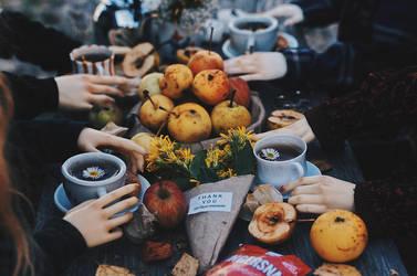 Autumn tea party II by AzureFantoccini