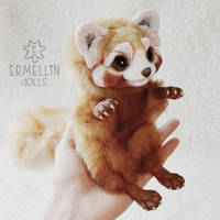 Red Panda Baby ooak doll by Ermellin
