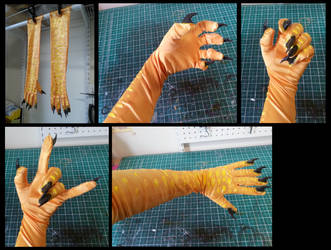 Pyroraptor Hands by CuriousCreatures