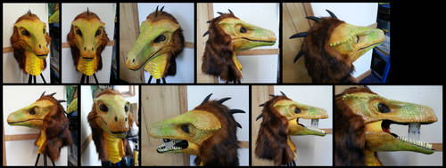Pyroraptor Head by CuriousCreatures