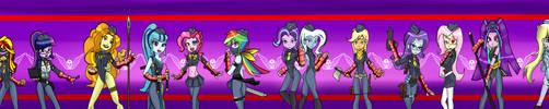 EQG New Shadaloo Dolls parody by kaiamurosesei
