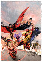 Teen Titans 1 CVR by drewdown1976