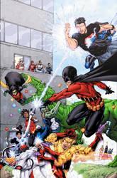 Teen Titans Pinup by drewdown1976