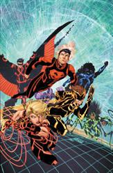 Teen Titans 08 Cover by drewdown1976
