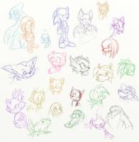 Sonic- Nearly Everyone by darkburraki