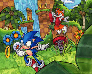 Sonic- Old Skool by darkburraki