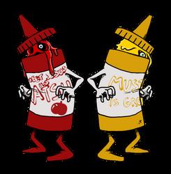 Ketchup and Mustard by darkburraki