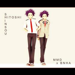 [MMD x BNHA] Hitoshi Shinso by JoshuaKuun