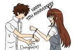Sakura and Syaoran handcuffed by Draugurok