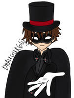 Syaoran as Kaitou Magician by Draugurok