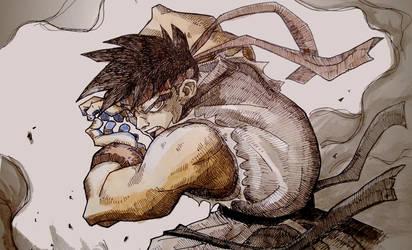 Ryu Fanart by lorenzolamass