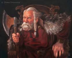 Old warlord by Darko-Stojanovic-Art