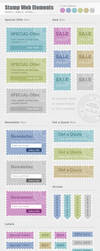 Stamp Web Elements by PixFairy